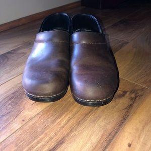 Dansko Brown Leather Professional Clogs